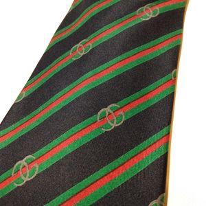 Gucci Silk GG Striped Tie